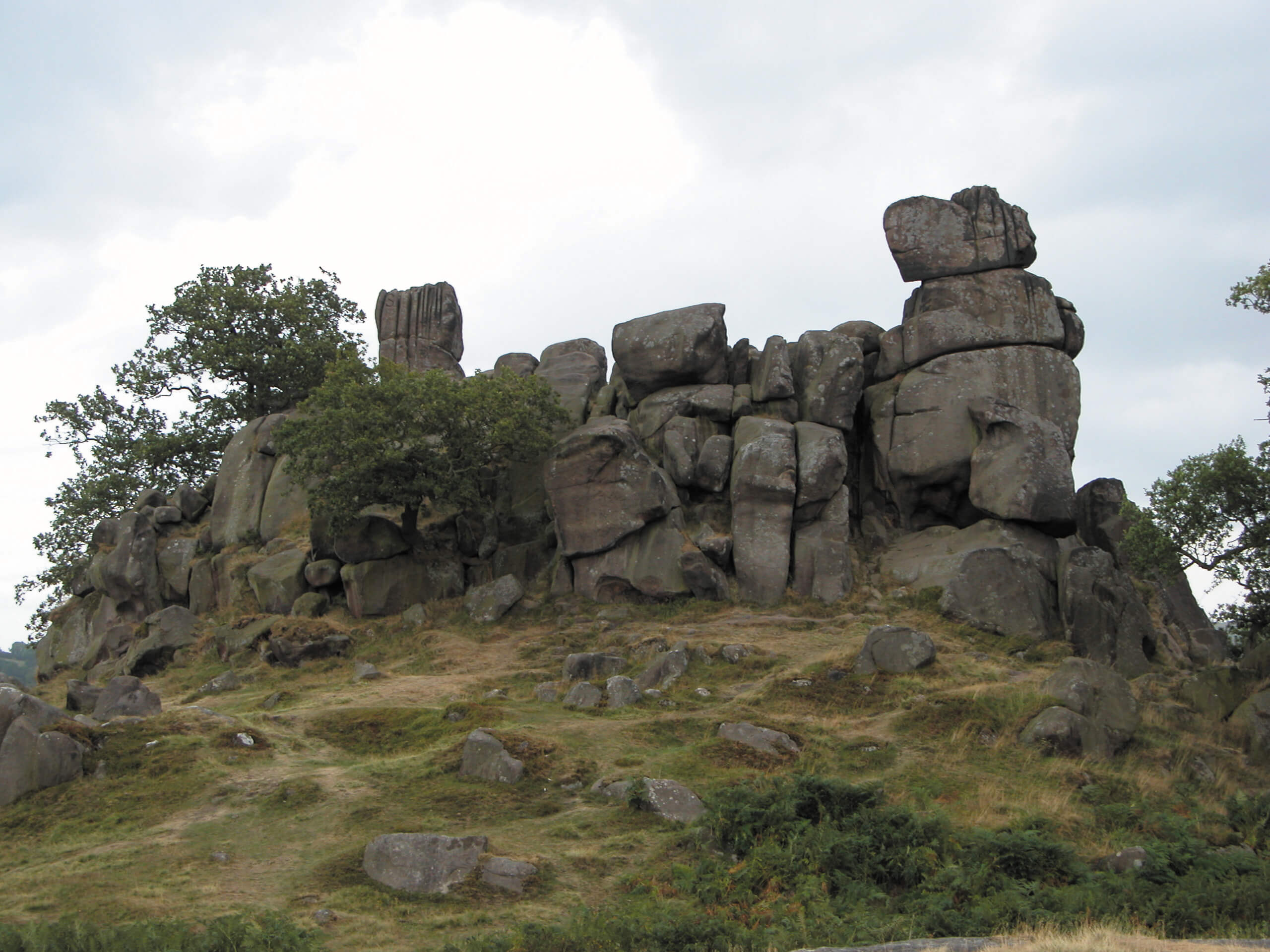 The dramatic rock formation known as Robin Hood's Stride or Mock Beggars' Hall near Harthill.