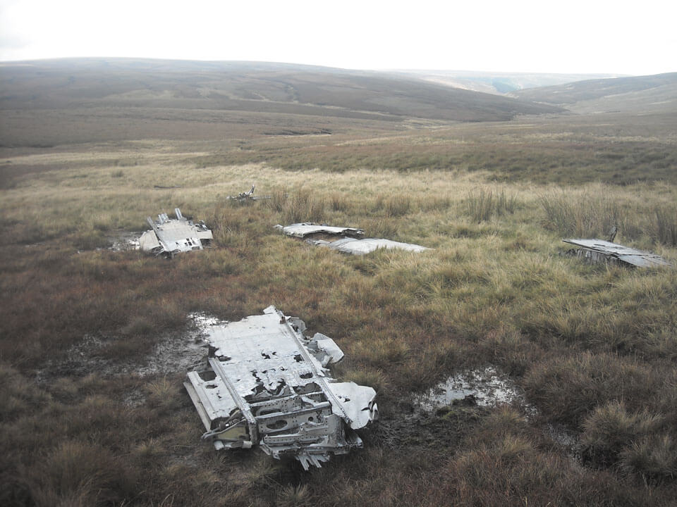 wreckage on the moors