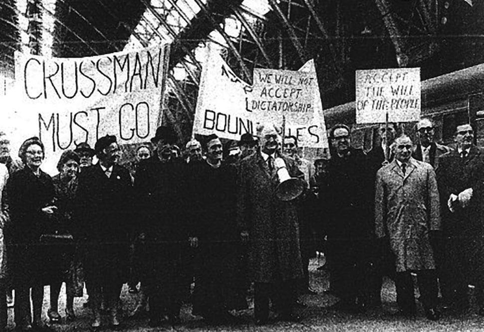 Protesters Derbyshire