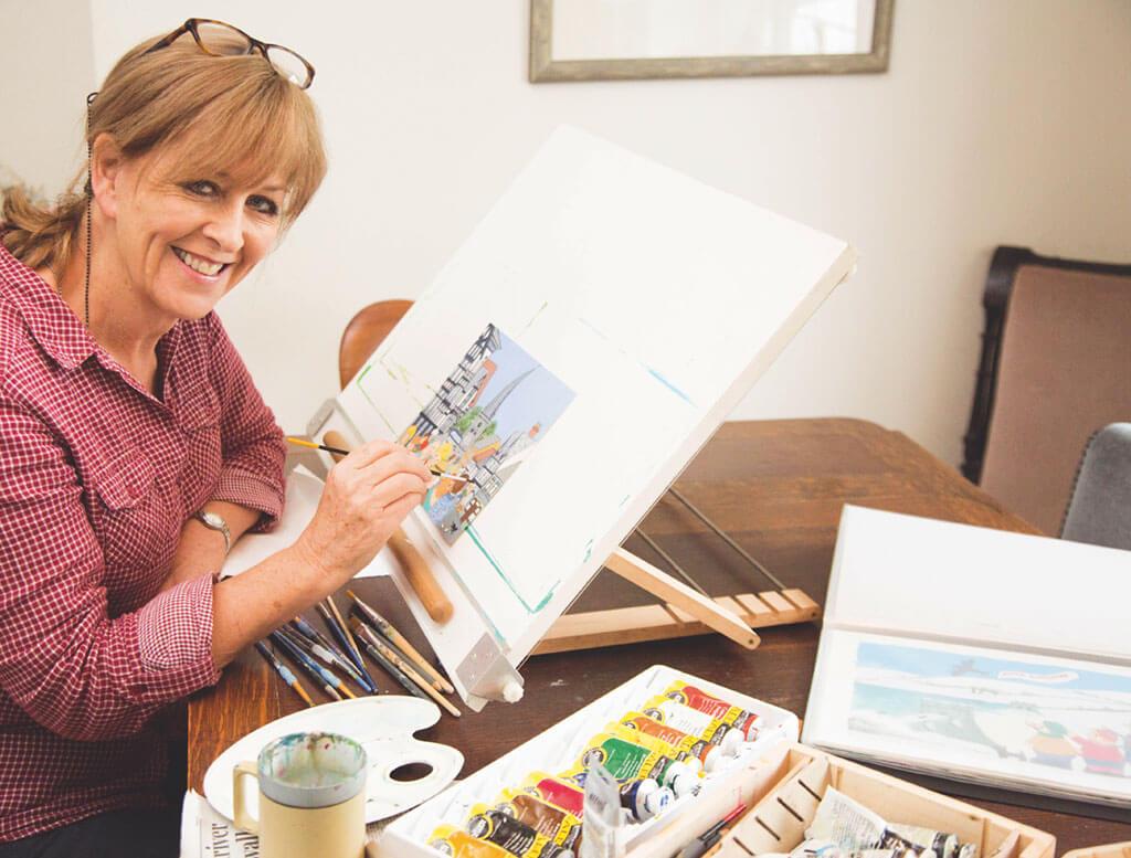 anne bannister, anne bannister artist, derbyshire folk, derbyshire folk artist,