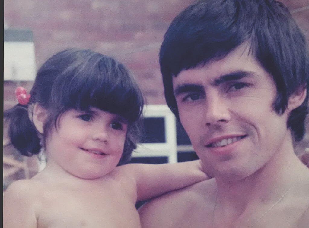 Ernie Moss and daughter