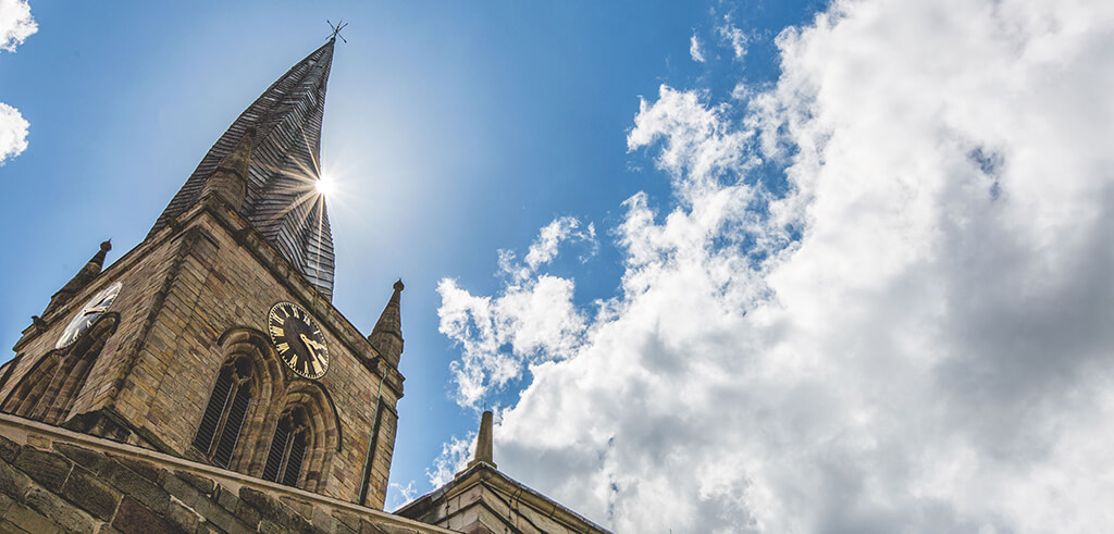 crooked spire, crooked spire chesterfield, chesterfield spire, twisted spire,
