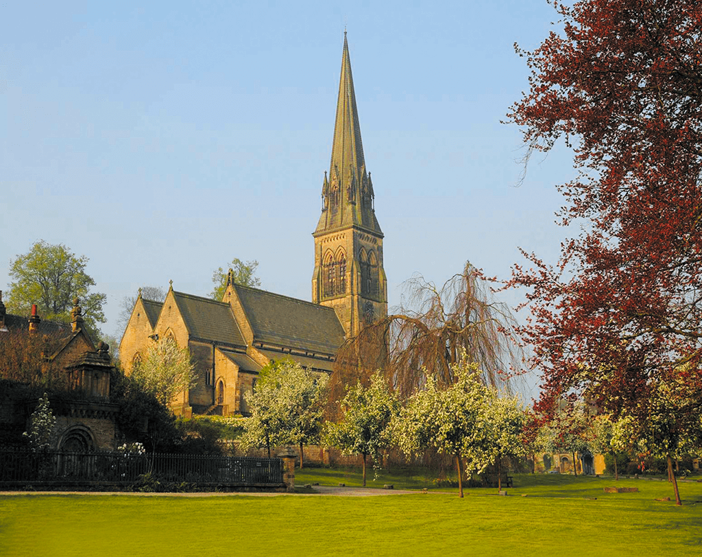 Edensor-church, chatsworth walks, derbyshire walks, derbyshire hikes,
