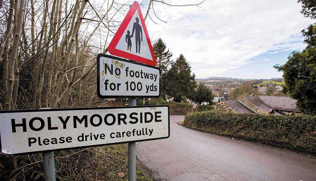 Holymoorside village, Derbyshire