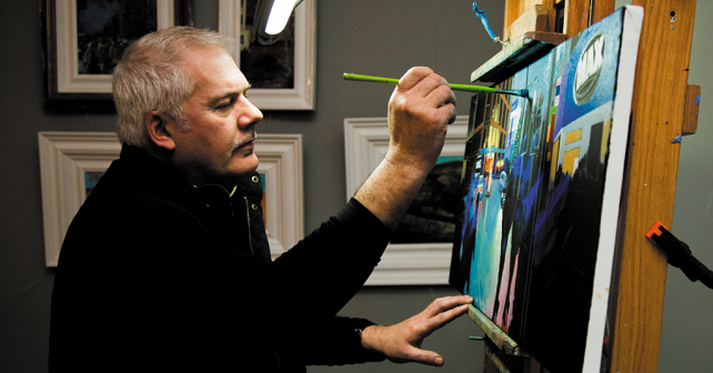 Artist Carl Longmate