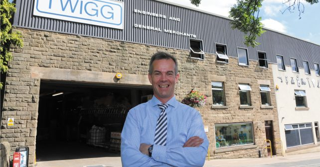 MD Richard Tarbatt outside the firm's Engineering & General Merchants building.