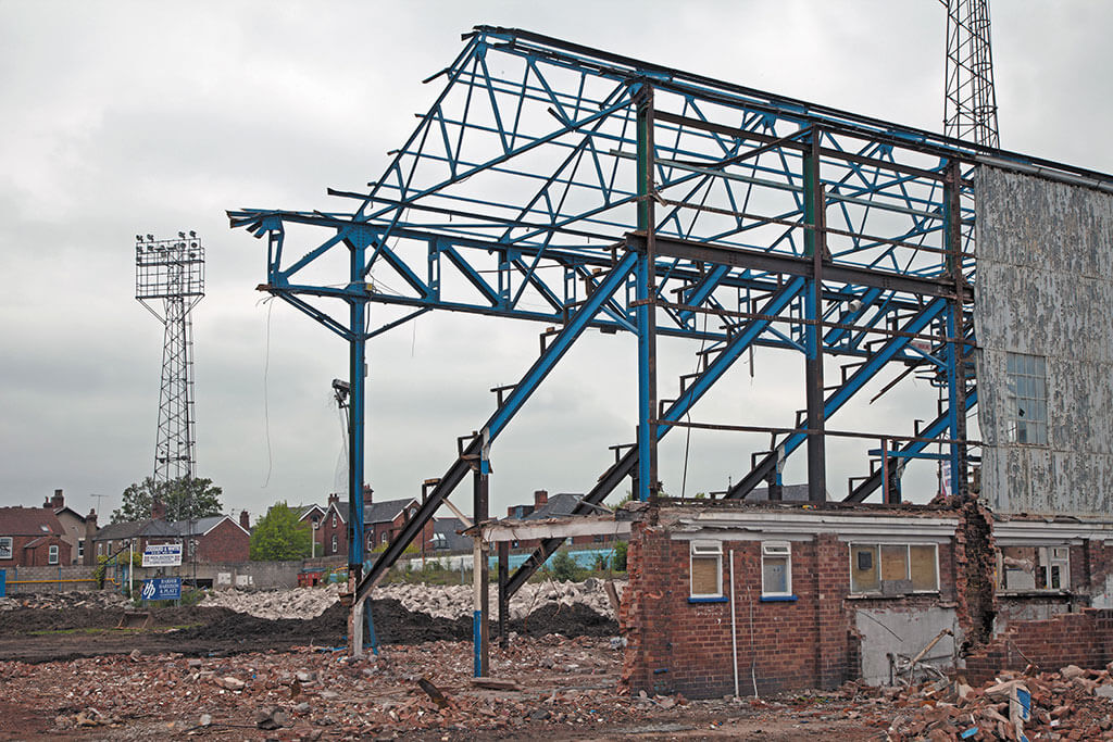 Chesterfield Saltergate Stadium Demolision