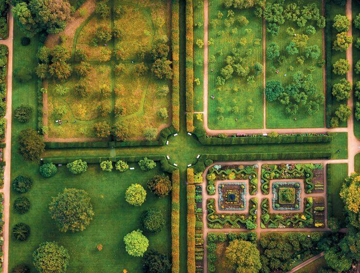 Hardwick Hall gardens drone photograph by Phil Nicholls